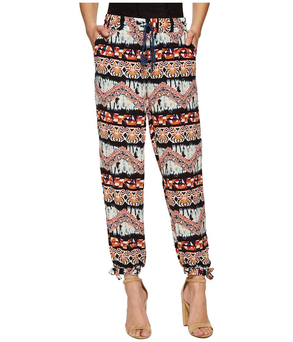 Jack by BB Dakota - Kela Artisan Wave Printed Poly Crepe Side Slit Jogger (Ivory) Women's Casual Pants