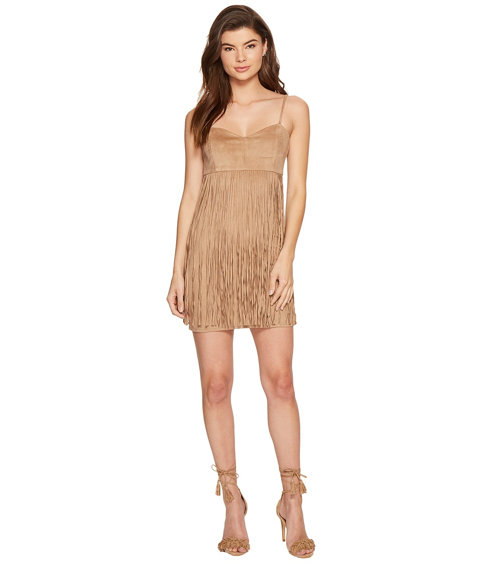 Jack by BB Dakota - Rowlands Soft Faux Suede Fringed Dress (Light Camel) Women's Dress