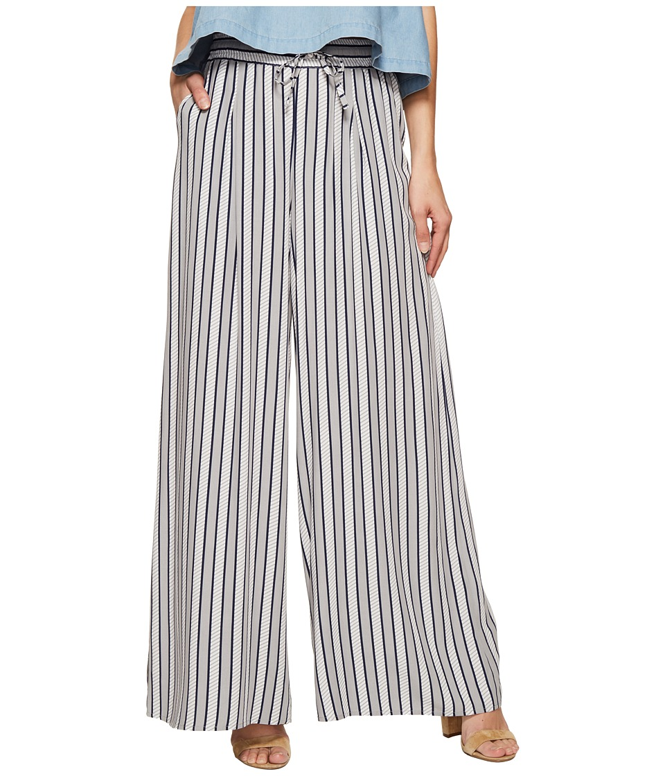 Jack by BB Dakota - Maximus Shades of Grey Printed Rayon Challis Deep Pleat Pants (White) Women's Casual Pants