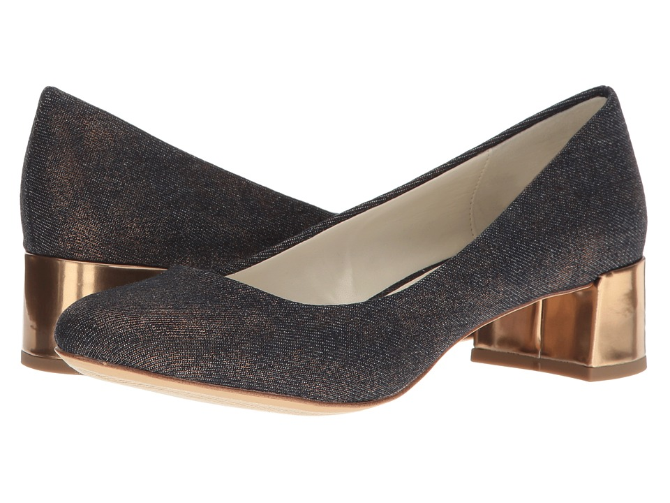 Anne Klein - Hallie (Medium Blue/Gold Fabric) Women's Shoes