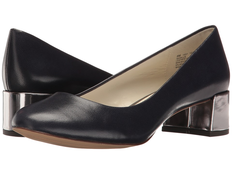 Anne Klein Hallie (Navy Leather) Women