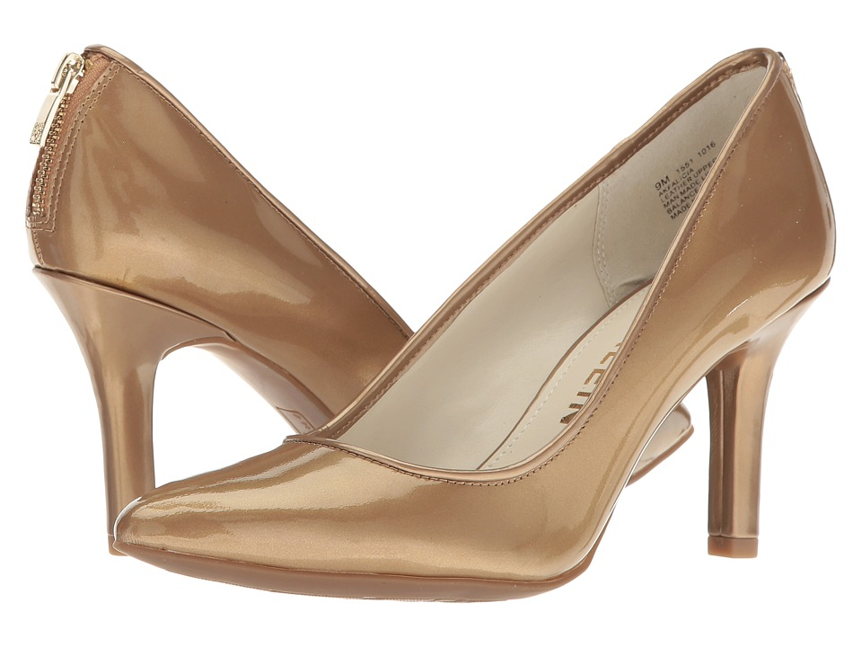 Anne Klein Falicia (Medium Gold/Medium Gold Patent) High Heels