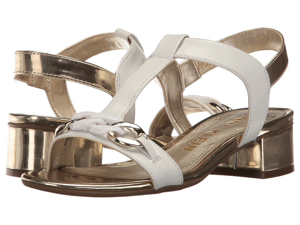 Anne Klein - Entity (White/Gold Leather) Women's Shoes