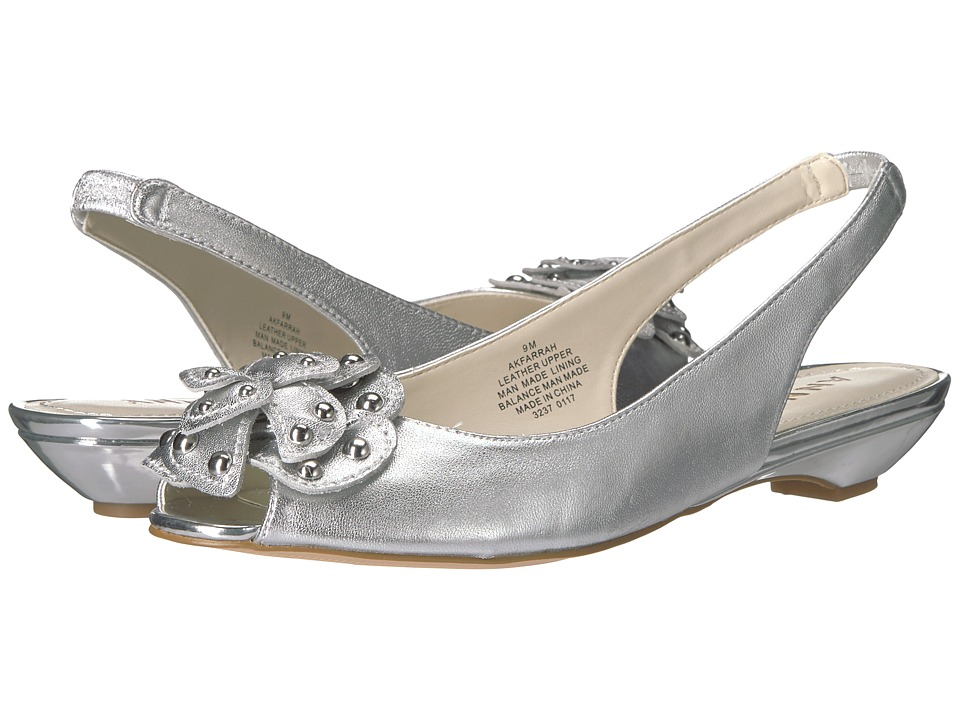 Anne Klein Farrah (Silver Leather) Women