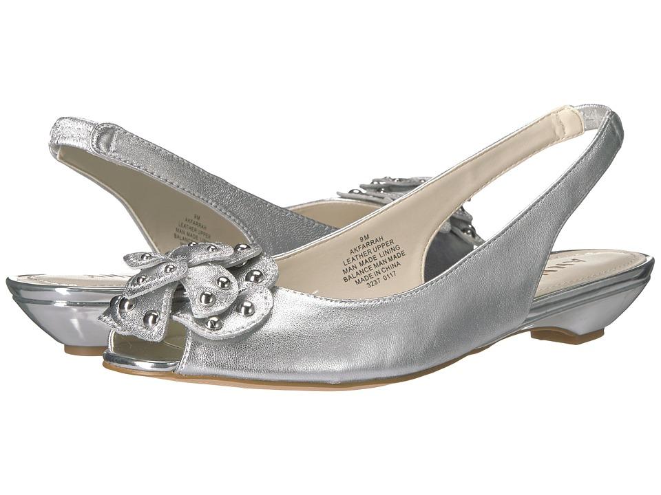 Anne Klein - Farrah (Silver Leather) Women's Shoes