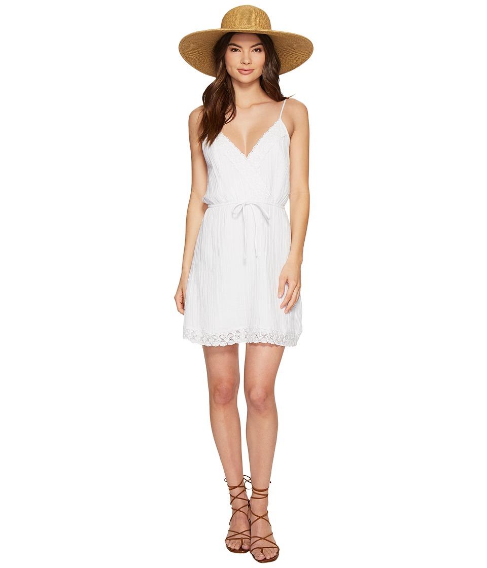 Jack by BB Dakota Melina Cotton Gauze Dress with Wide Scallop Lace Trim (Bright White) Women