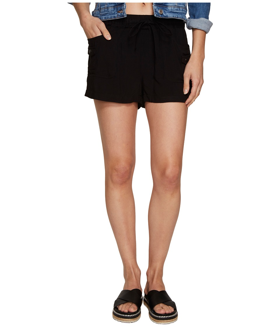 Jack by BB Dakota - Mosby Rayon Twill Cargo Shorts (Black) Women's Shorts