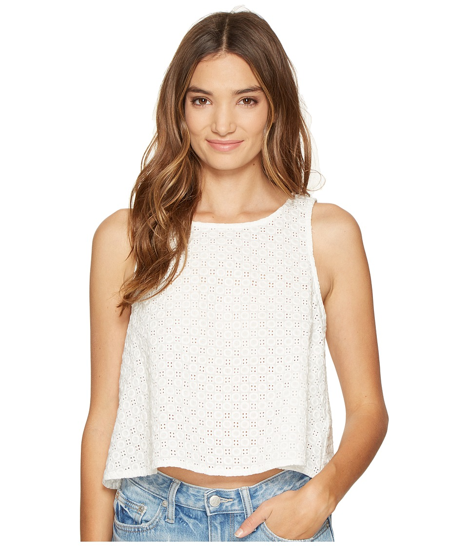 Jack by BB Dakota - Lizabeth Cotton Eyelet Button Back Shell Top (Bright White) Women's Clothing