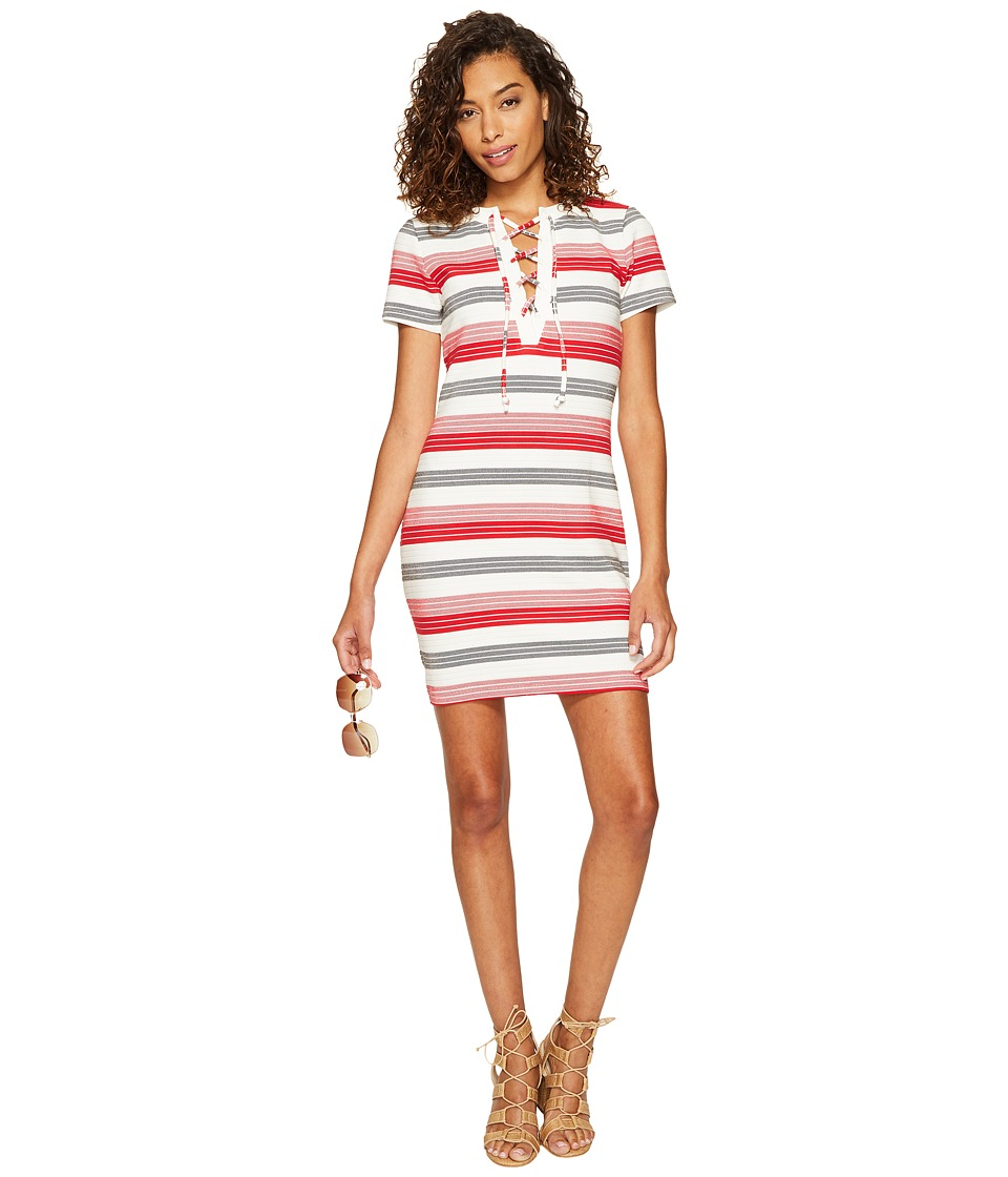 Jack by BB Dakota - Lijah Stripe Knit + Rib Trim Dress (Ivory) Women's Dress