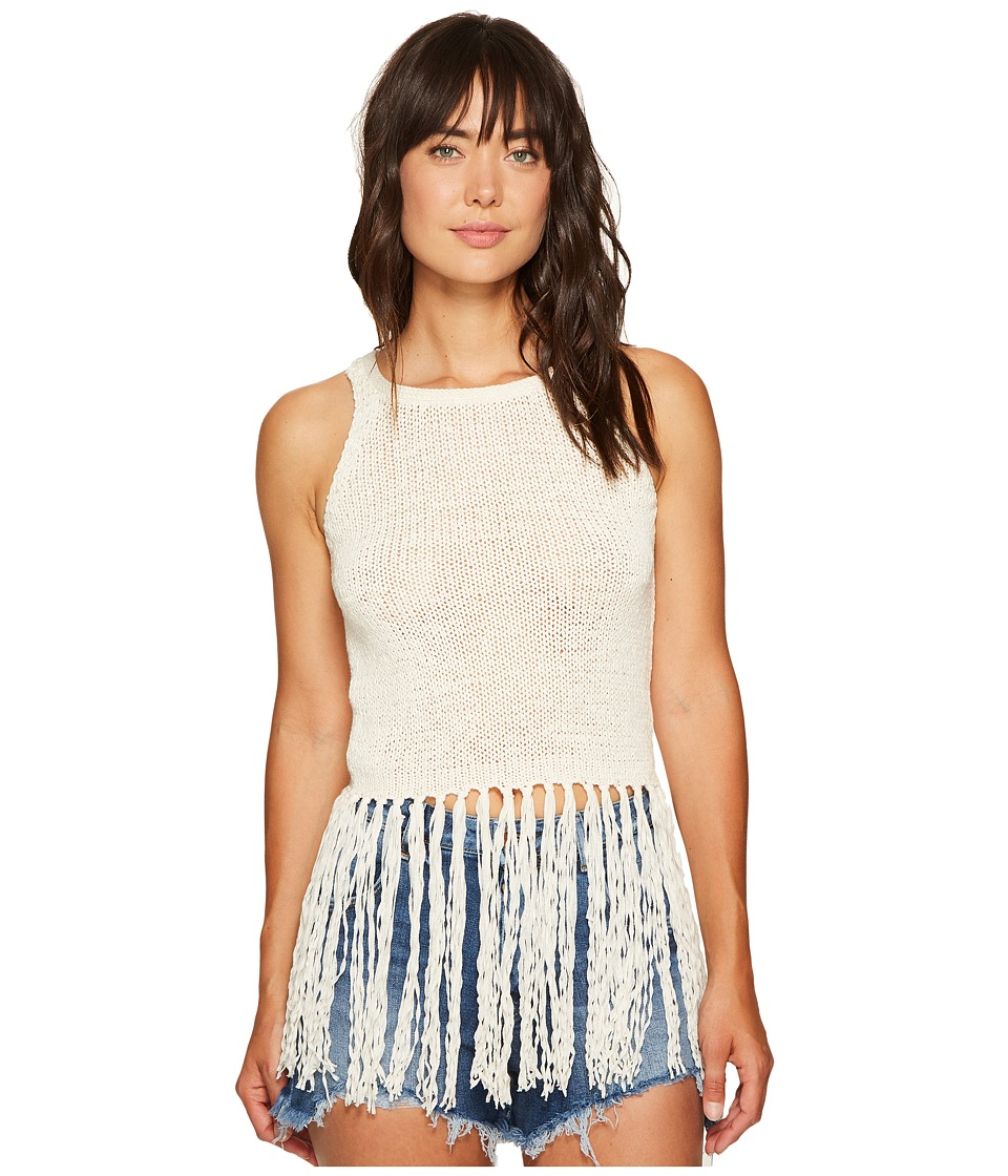 Jack by BB Dakota - Yoko Tape Yarn Long Fringed Sweater Tank Top (Ivory) Women's Sleeveless