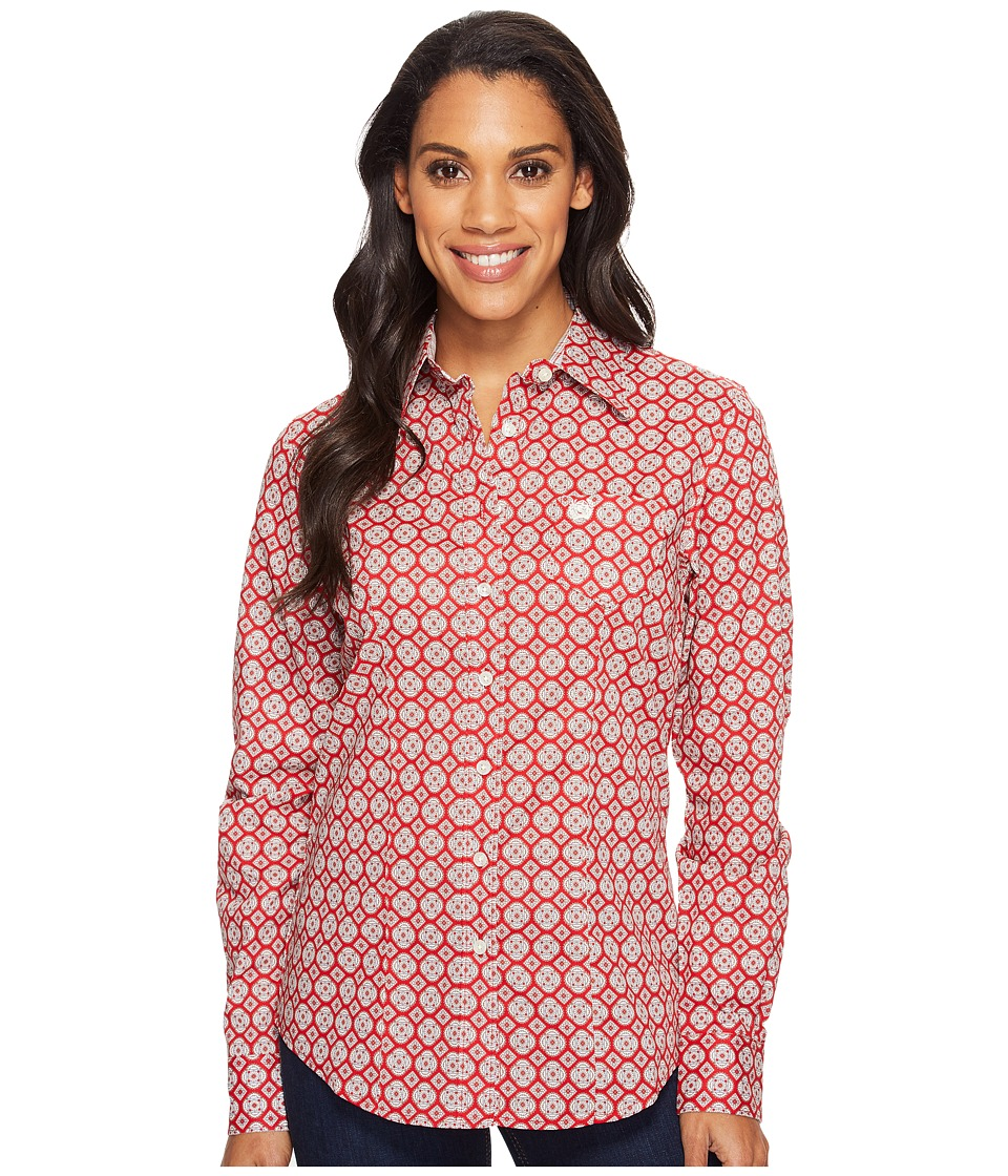 Cinch - Cotton Plain Weave Print (Red) Women's Clothing