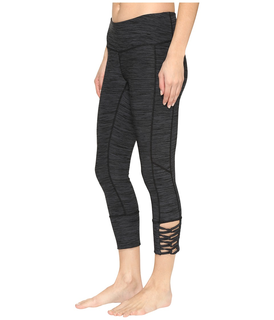 Cinch - Capri Leggings w/ Lace-Up Hem (Multicolored) Women's Clothing