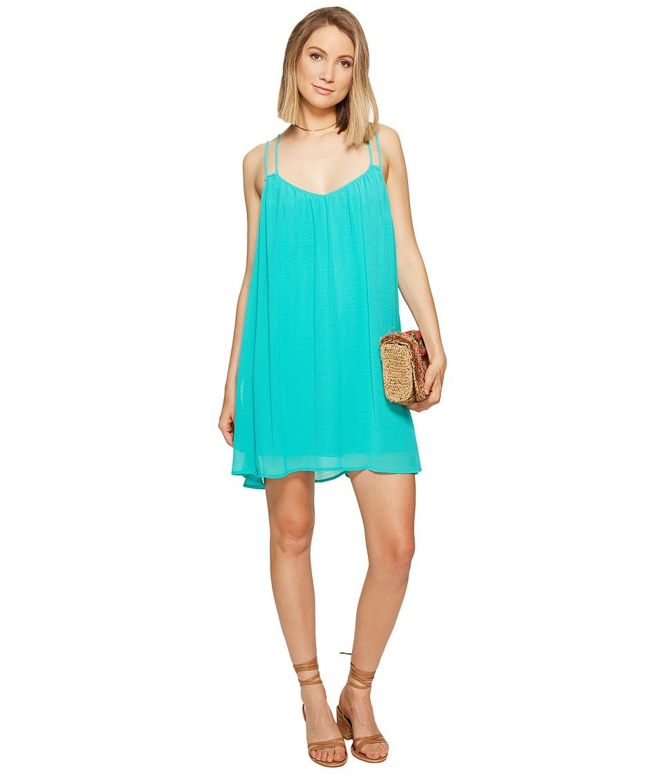 Jack by BB Dakota Ronnie Crinkle Gauze Dress (Teal Green) Women