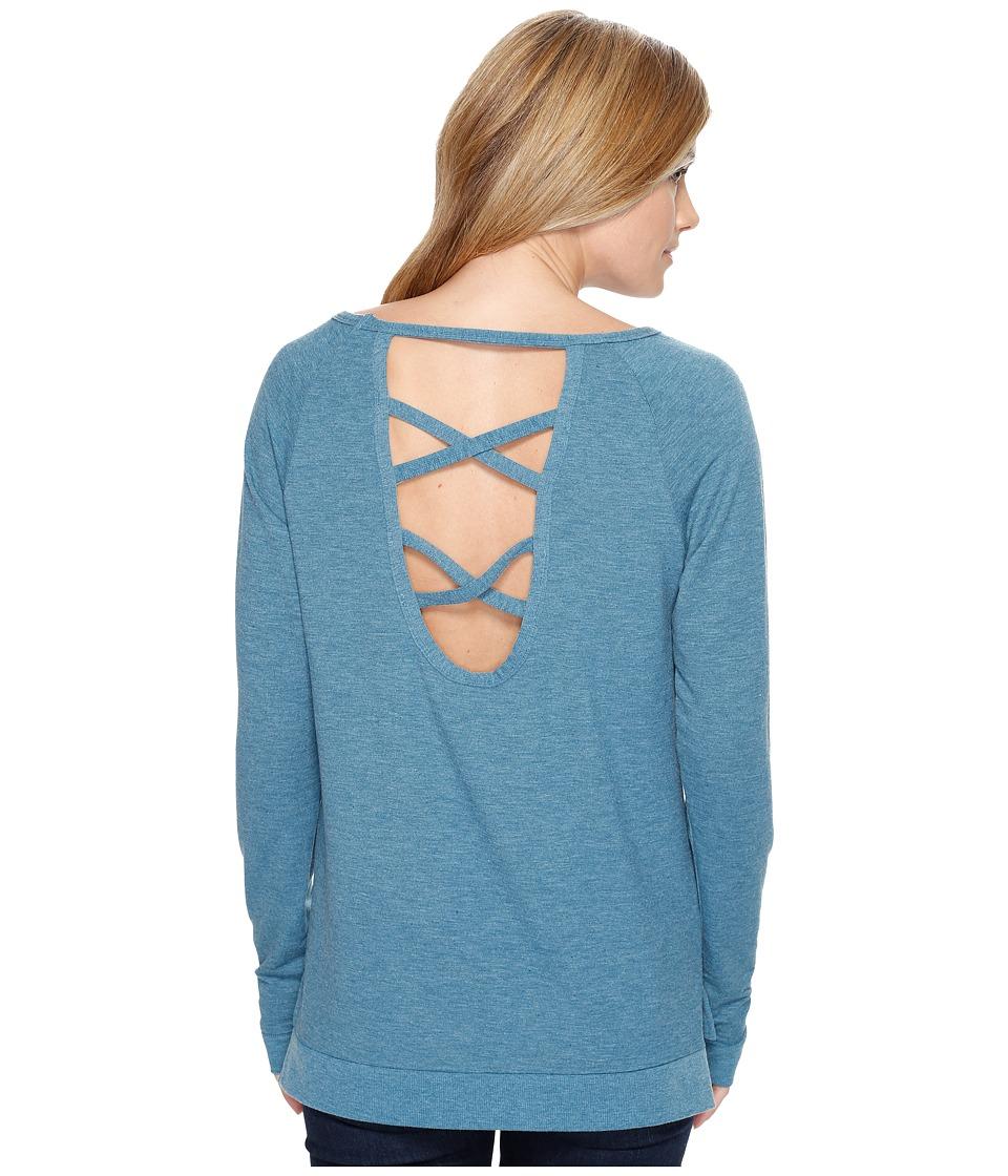 Cinch - French Terry Sweatshirt (Teal) Women's Sweatshirt