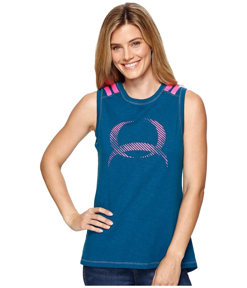 Cinch - Sleeveless Muscle Tank Top (Teal) Women's Sleeveless