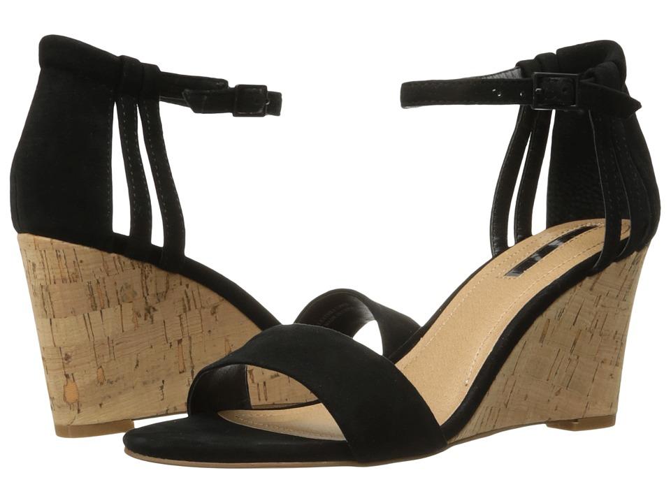 Tahari - Farce (Black Suede/Cork) Women's Wedge Shoes