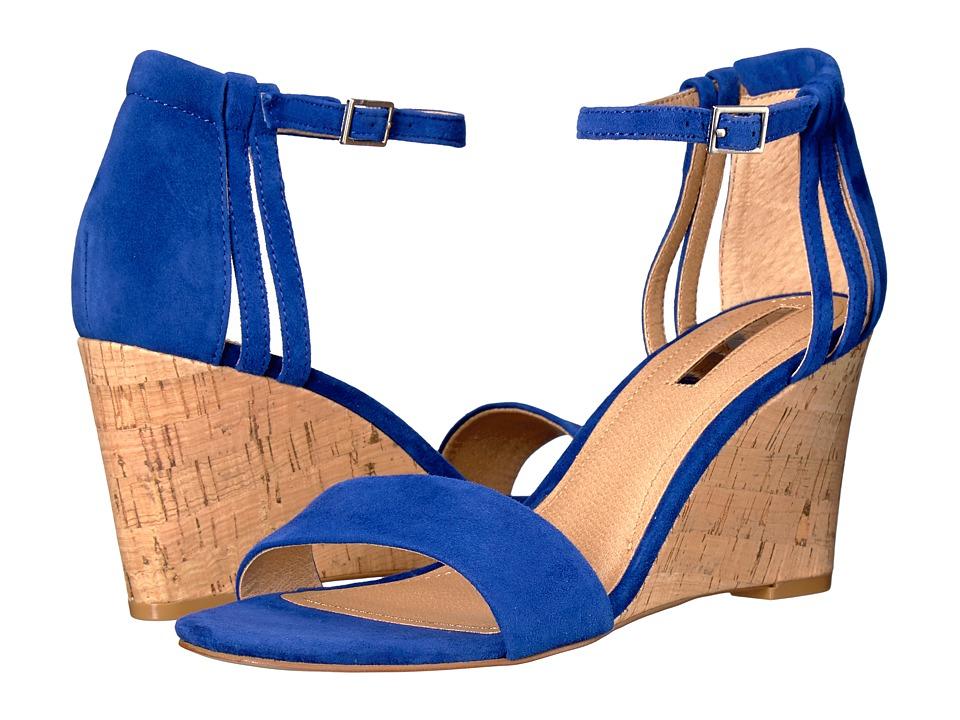 Tahari - Farce (Ocean Suede/Cork) Women's Wedge Shoes