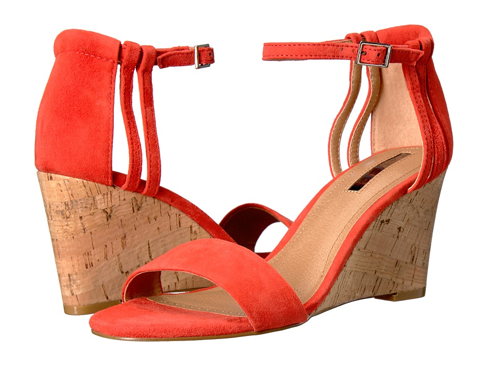 Tahari - Farce (Coral Suede/Cork) Women's Wedge Shoes