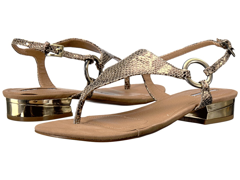 Tahari - Lacie (Gold/Fawn Metal Python Print/Suede) Women's Sandals