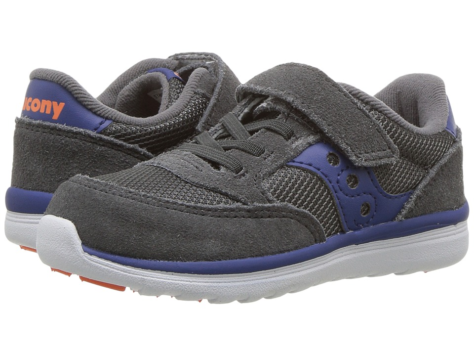 Saucony Kids Originals Jazz Lite (Toddler/Little Kid) (Grey/Blue) Boys Shoes