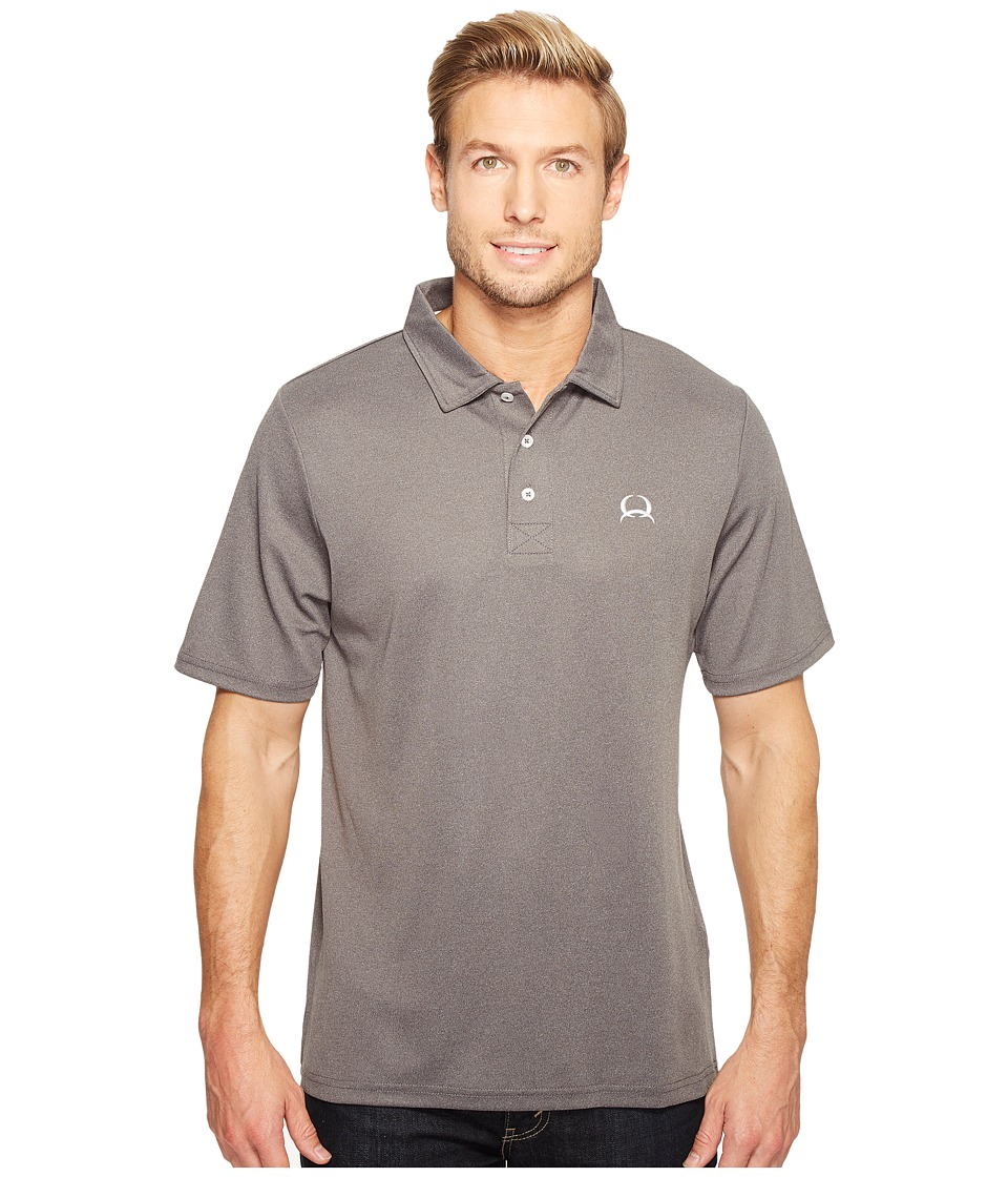 Cinch - Athletic Tech Polo Heathered (Heather Gray) Men's Clothing
