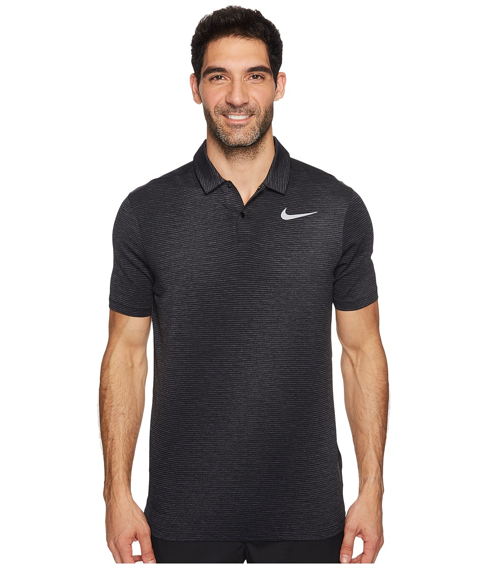 Nike Golf - TW Velocity Max Polo 2 (Black/Flat Silver) Men's Short Sleeve Pullover