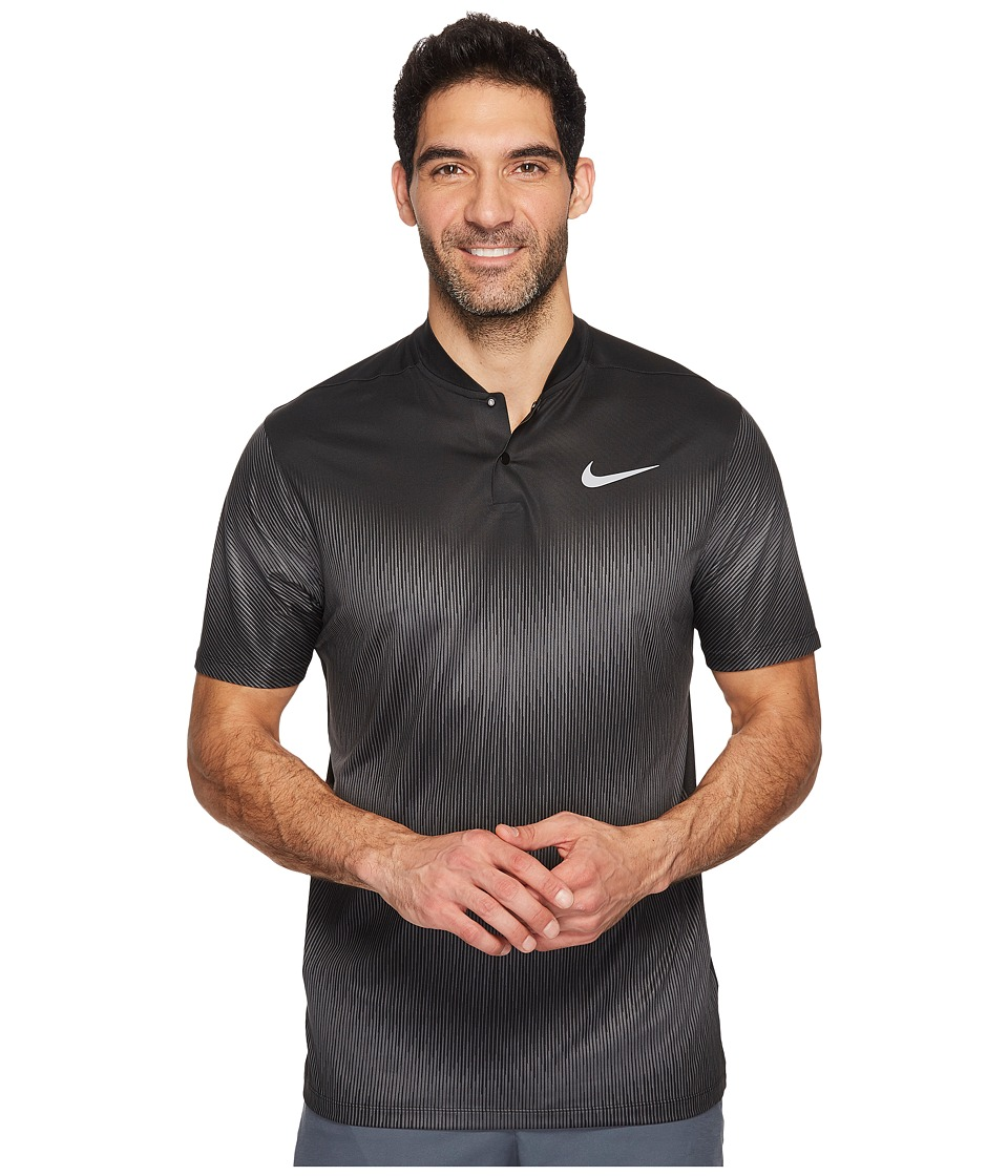 Nike Golf - TW Velocity Max Polo 1 (Black/Dark Grey/Flat Silver) Men's Short Sleeve Pullover