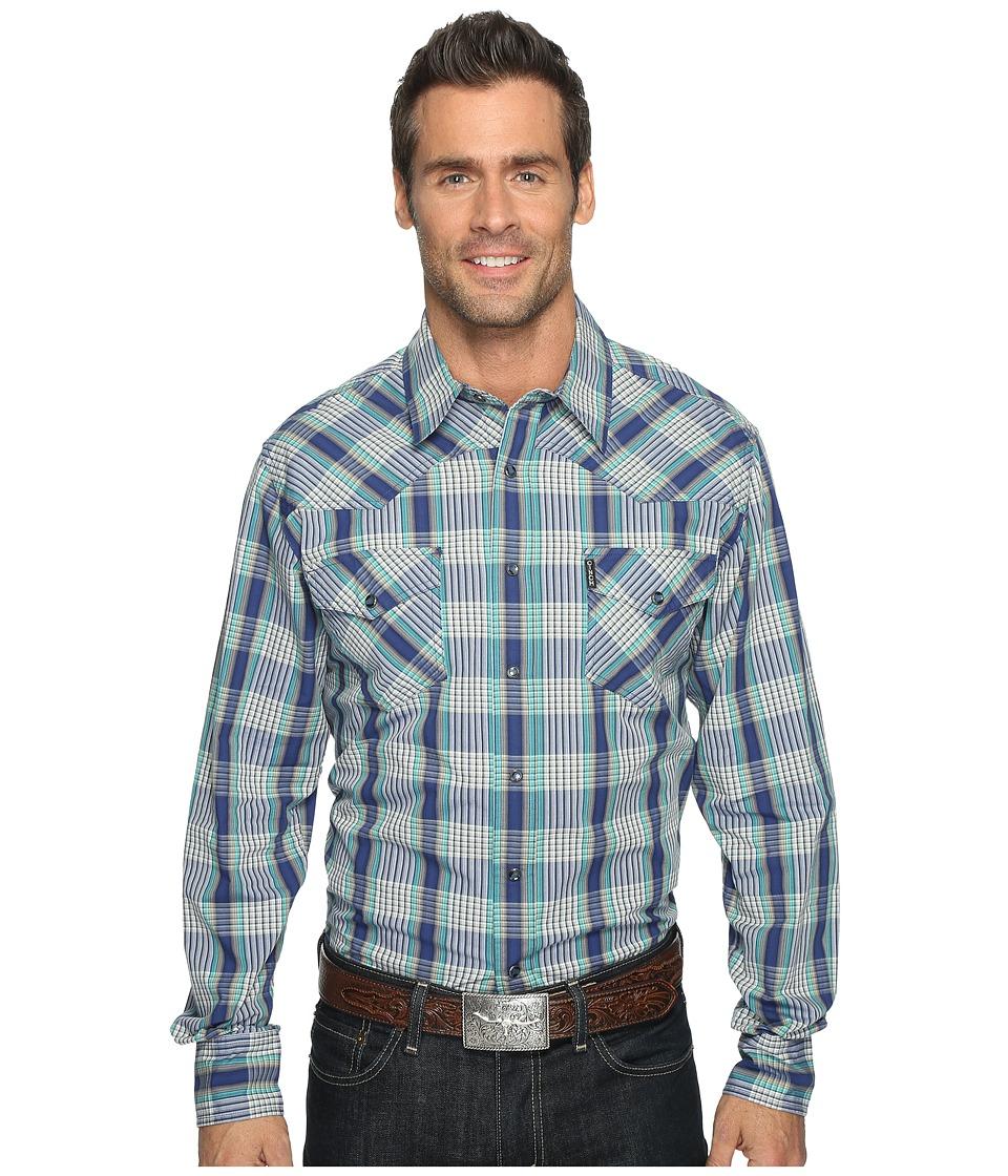 Cinch - Modern Fit Western Plain (Blue) Men's Clothing