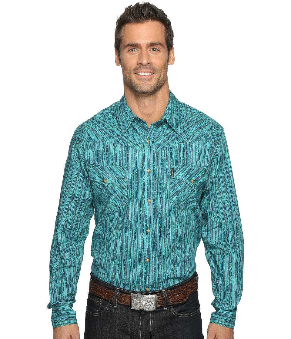 Cinch - Modern Fit Plain Weave (Blue) Men's Clothing