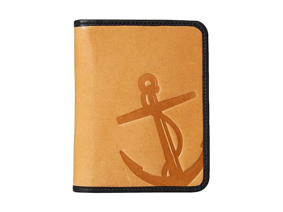Fossil - Troy Zip Around Passport Case (Saddle) Wallet