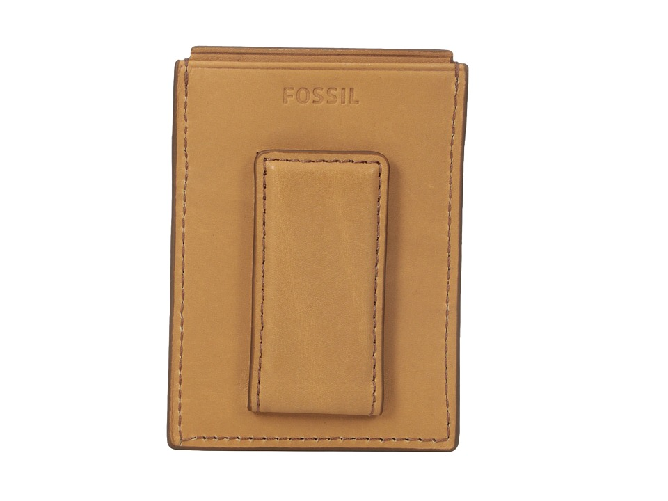 Fossil - RFID Ford Magnetic Card Case (Saddle) Wallet