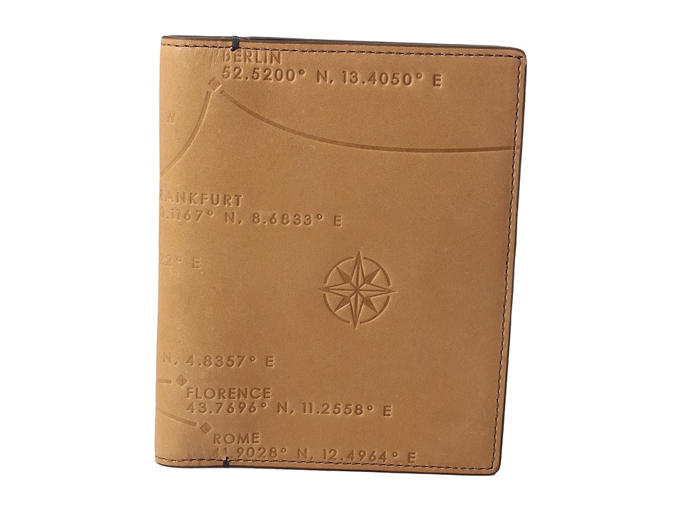 Fossil - Defender Passport Case (Saddle) Wallet