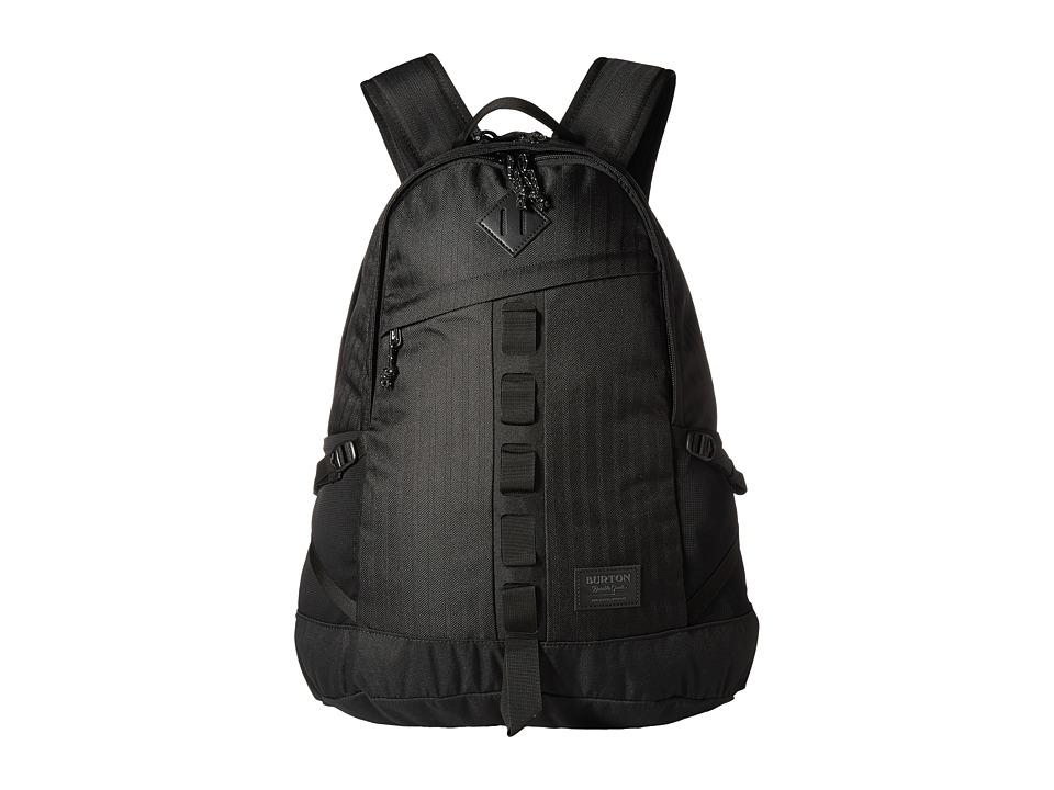 Burton Cadet Pack (True Black Heather Twill) Backpack Bags