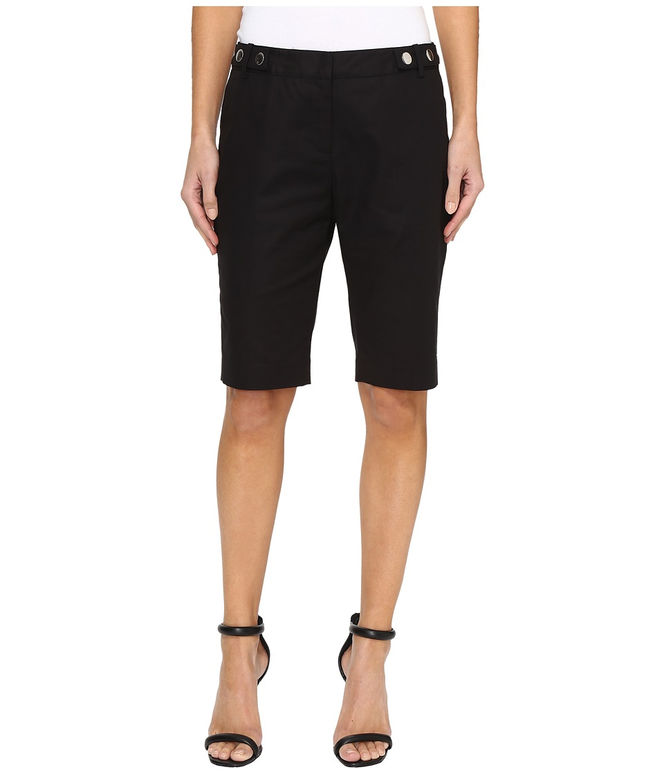 MICHAEL Michael Kors - Snap Waist Bermuda Shorts (Black) Women's Shorts