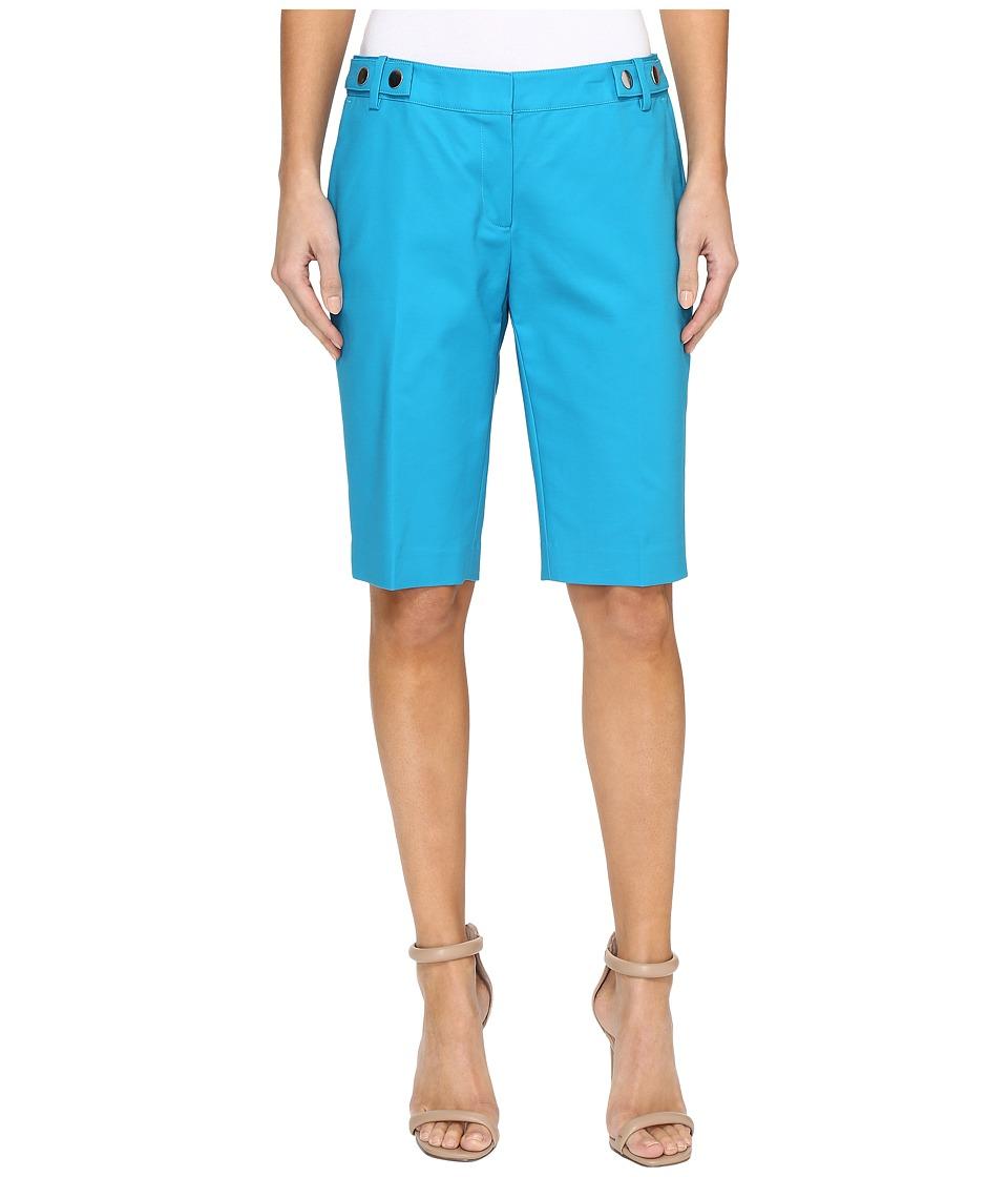MICHAEL Michael Kors - Snap Waist Bermuda Shorts (Dark Peacock) Women's Shorts