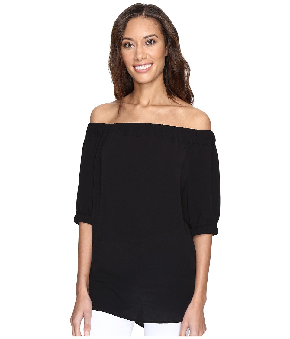 MICHAEL Michael Kors - Off Shoulder Top (Black) Women's Clothing