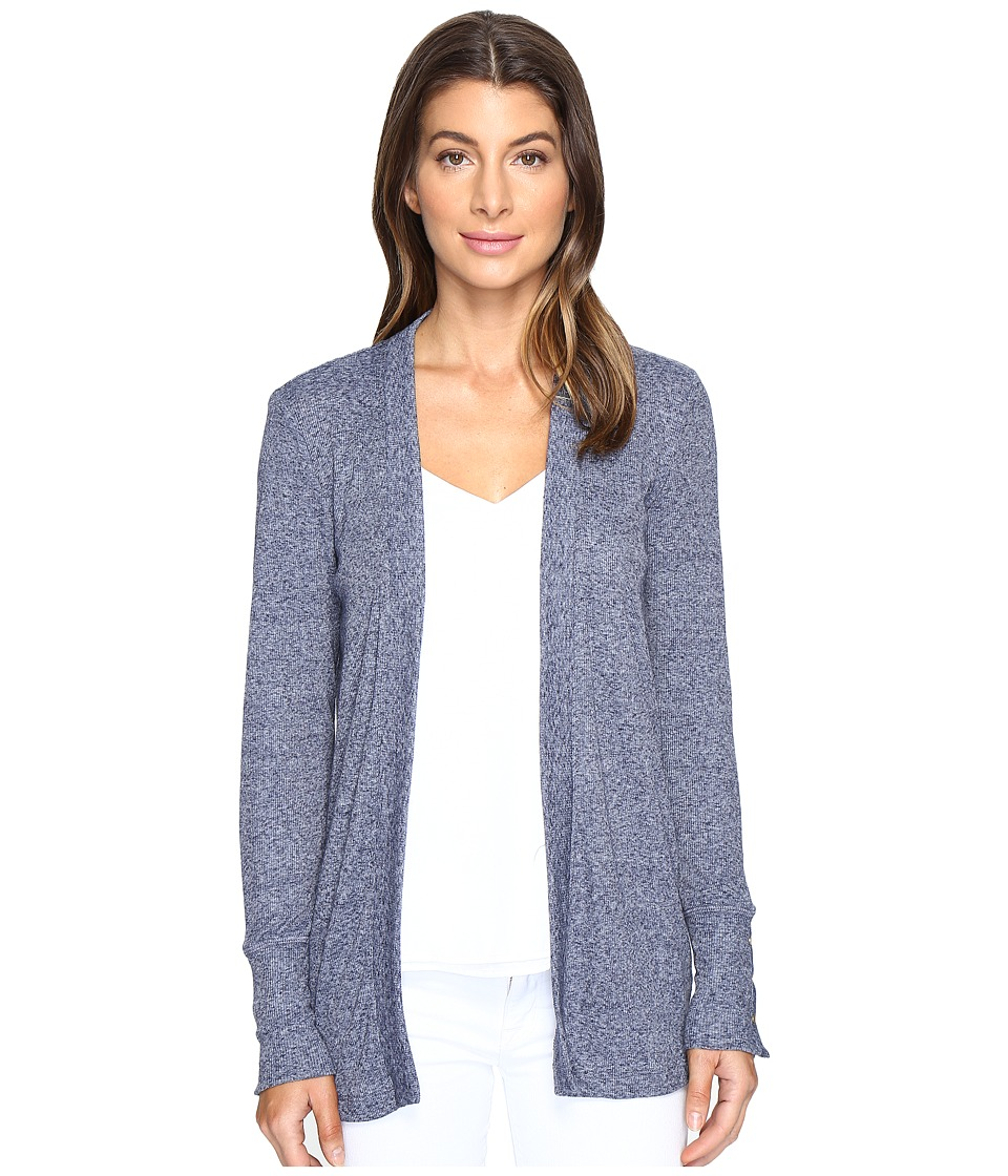 MICHAEL Michael Kors - Rib Snap Sleeve Open Cardi (True Navy) Women's Sweater