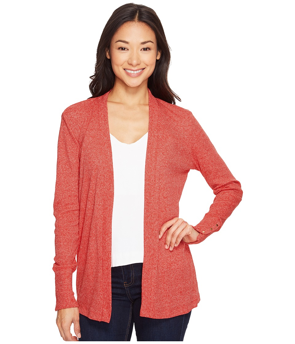 MICHAEL Michael Kors Rib Snap Sleeve Open Cardi (True Red) Women