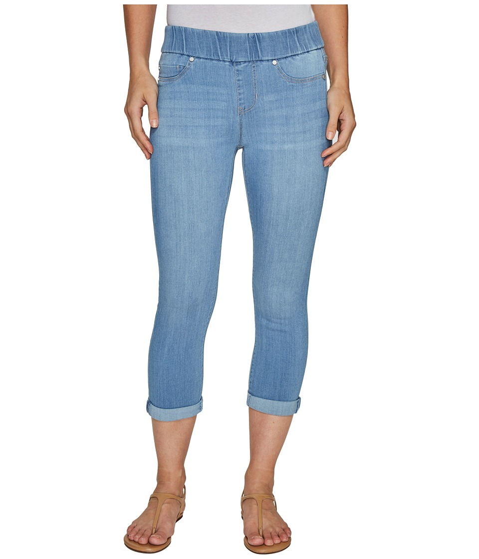 Liverpool Sienna Pull-On Rolled-Cuff Capris in Silky Soft Denim in Normandie Light (Normandie Light) Women