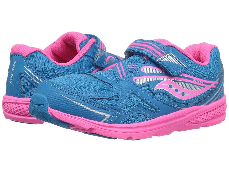 Saucony Kids Ride 9 (Toddler/Little Kid) (Blue/Pink) Girls Shoes