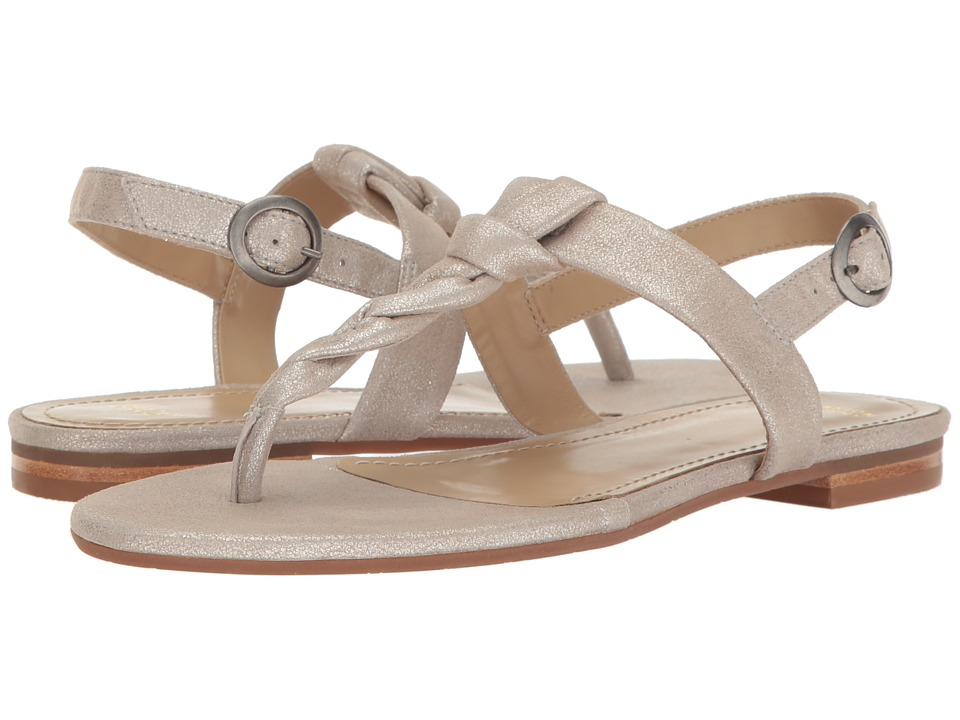 Johnston & Murphy - Holly (Silver Metallic Suede) Women's Sandals