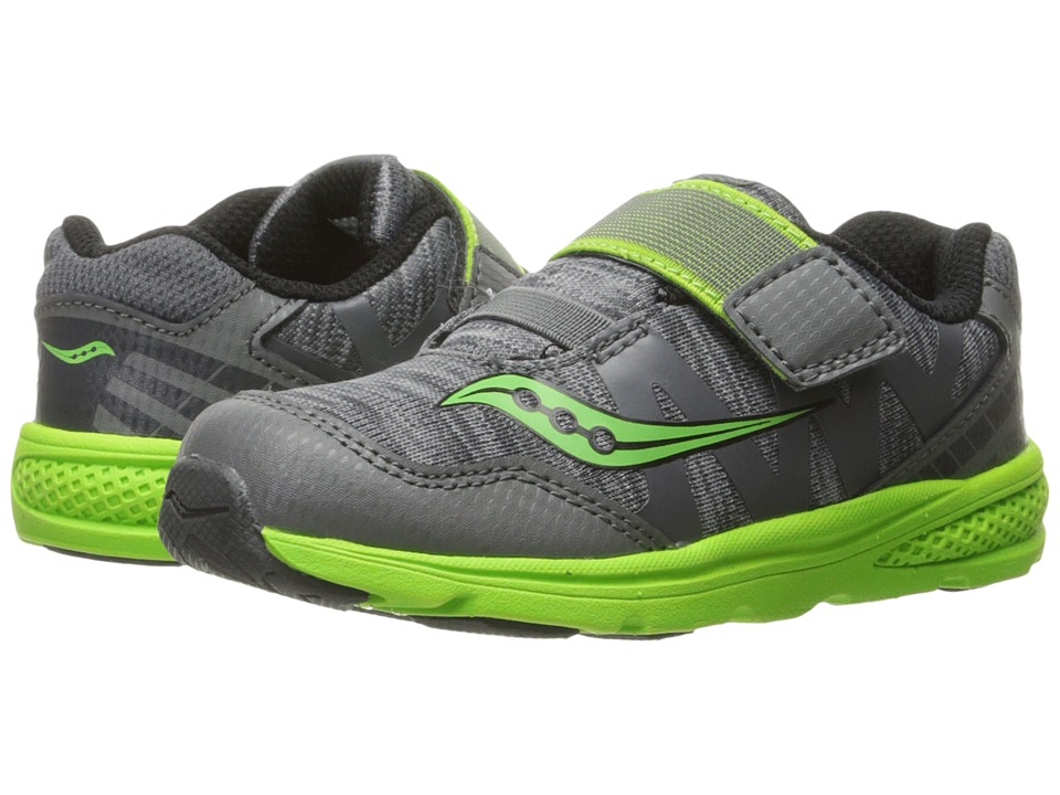 Saucony Kids - Baby Ride Pro (Toddler/Little Kid) (Grey/Green) Boys Shoes