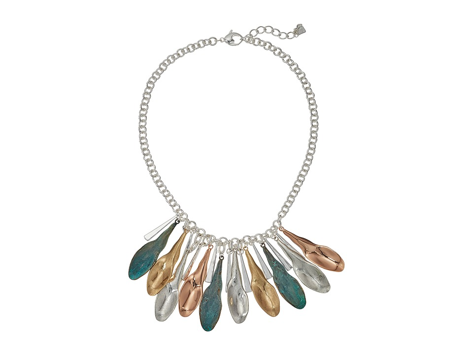 Robert Lee Morris - Shaky Patina Mixed Metal Sculptural Petal Frontal Necklace (Patina) Necklace