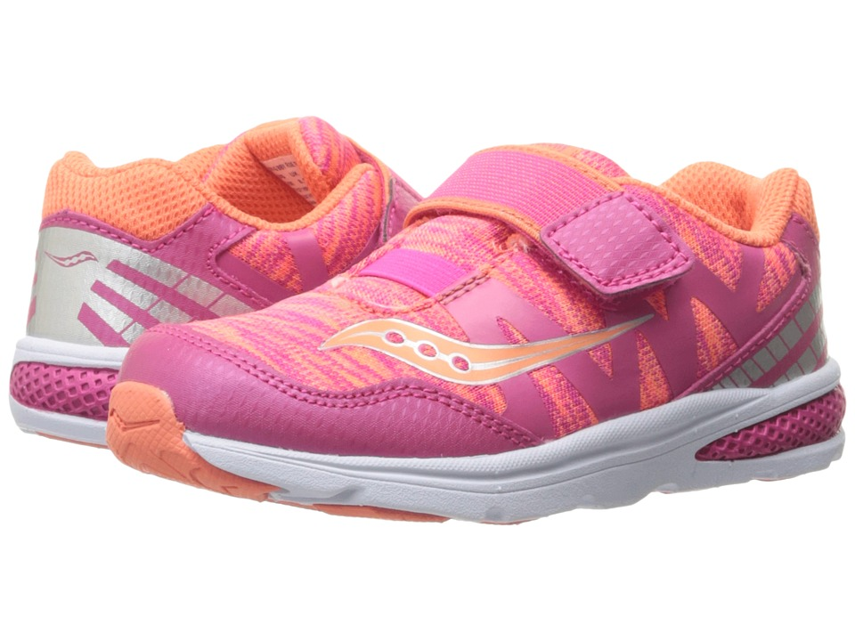 Saucony Kids - Baby Ride Pro (Toddler/Little Kid) (Coral/Multi) Girls Shoes
