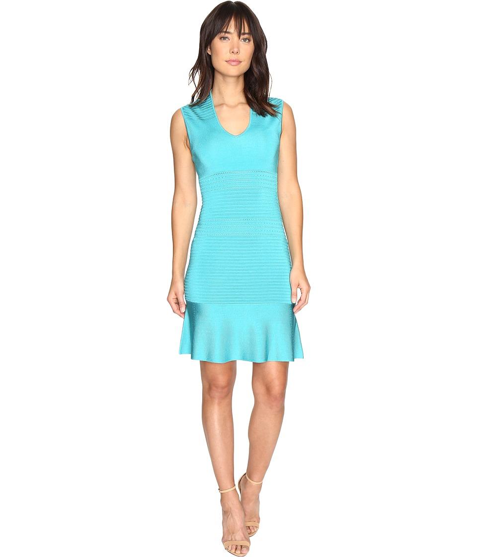 MICHAEL Michael Kors V-Neck Sleeveless Flounce Sweater Dress