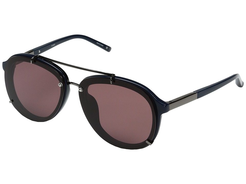 Image of 3.1 Phillip Lim - PL162C3SUN (Navy/Gunmetal/Purple) Fashion Sunglasses