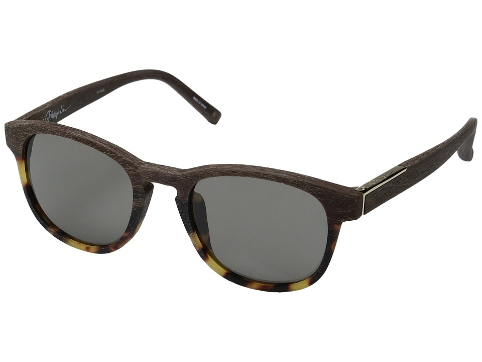 3.1 Phillip Lim - PL168C2SUN (Scratch Brown/T-Shell/Black/Brown) Fashion Sunglasses