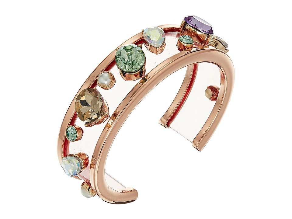 Betsey Johnson - Mixed Multicolored Stone Cuff Bracelet (Multi) Bracelet