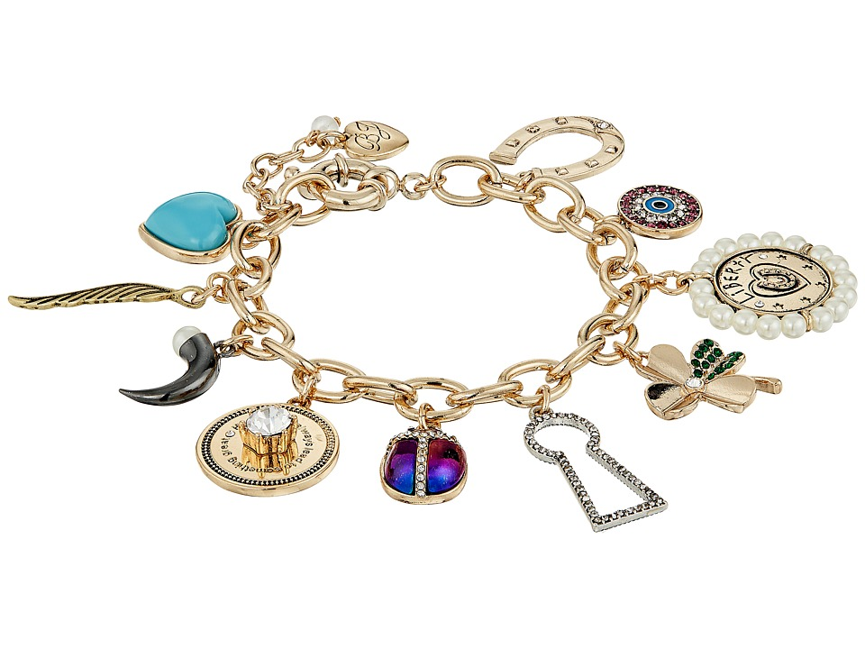 Betsey Johnson - Mixed Multi Charm Bracelet (Multi) Bracelet