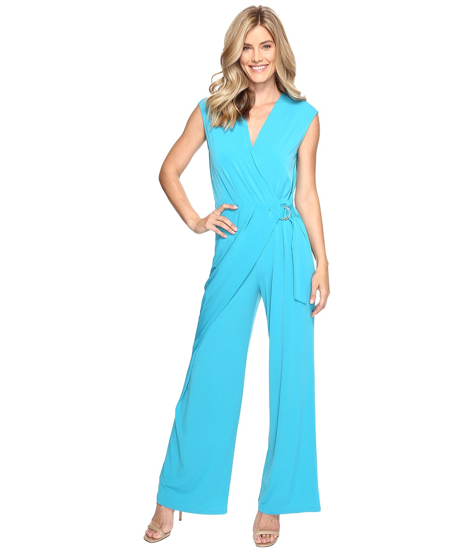 MICHAEL Michael Kors - Wrap Front Jumpsuit (Dark Peacock) Women's Jumpsuit & Rompers One Piece